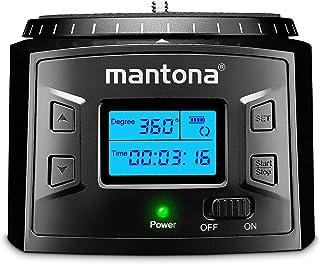 Mantona Turnaround 360 Advanced 3 – 电子全景三脚架头 360° 无限旋转可编程旋转头,适用于时间拍摄和旋转,带相机智能手机 Action Cam GoPro