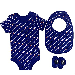Champion Baby Infant 3 件套盒装,包含紧身衣、围嘴和靴子