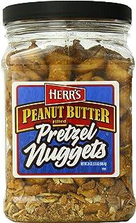 Herr's Peanut Butter Filled Pretzel Barrel, 24 Ounce
