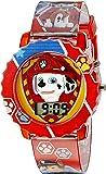 Paw Patrol 狗狗巡逻队儿童数字手表带红色保护壳,舒适红带,方便搭扣 - 表盘上官方 3D 狗狗巡逻队人物,儿童…