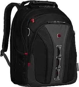 """Wenger 威戈 600631 LEGACY 16"""" 笔记本电脑背包 适合飞行的旅行背包 带稳定平台 黑色 {21 升}"""