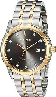 CITIZEN 男式光动能双色手表,钻石点缀
