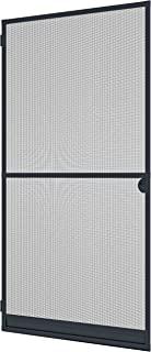 Windhager 防昆虫保护框架门 Expert 飞蚊格栅铝框 可个性化缩短,100 x 210 厘米 煤黑色 03903