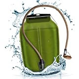 Source Hydration Bladder WLPS 低剖面 - 3 升(104 盎司)水囊带高流量风暴阀 - 具…