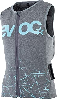 EVOC PROTECTOR VEST KIDS 儿童防护背心运动服装(尺码:JS, JM, JL, LITESHIELD PLUS 背部保护器,保护EVA 衬垫,AIROFLEX-腰带),碳灰色
