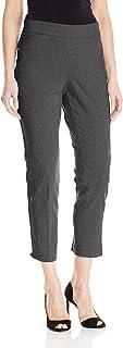 Briggs New York 女式超弹力千年修身套穿及踝裤 杂灰色 10