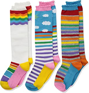Jefferies Socks 女童彩色彩虹及膝襪,3 雙裝