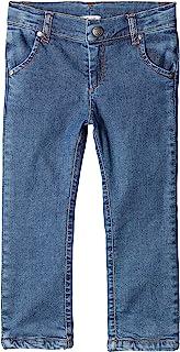 修身牛仔裤。