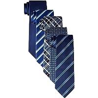 DRESSCODE101 男士 丝质领带 5条装 真丝领带 商务用 婚礼 纵向丝100%