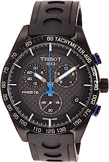 [天梭] TISSOT 腕表 PRS 516 黑色碳文字表盘 橡胶 T1004173720100 男士
