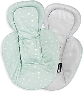 4Moms 新款可机洗新生儿内芯 - 光滑、透气、嵌套针织面料,灰色