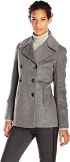 Calvin Klein 女士双排扣经典双排扣大衣