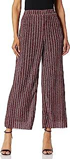 ECI New York 女式闪光针织褶皱喇叭裤