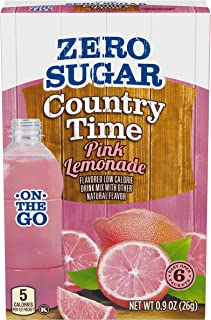 Country Time Sugar Free On The Go Pink Lemonade, 0.900 Ounce (Pack of 12)