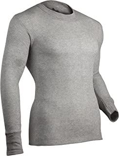 Indera 男式棉质华夫格针织厚实保暖内衣上衣