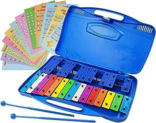 Xylophone 25 音符彩色钟琴盒 - 23 首歌曲卡片套装