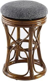 大竹产业(Otake Sangyo) 凳子 带靠垫 31×31×48厘米 藤(藤条)制 旋转凳 (1个装) OT-105-1