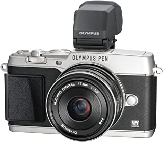 Olympus e-p5 17mm f1.8 和 vf-4 16.1 mp 小型系统相机带 3 英寸 LP(银色带黑色饰边)