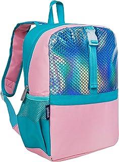 Wildkin 男孩和女孩 Pack-it-All 背包,完美尺寸适合学校和旅行,特色前肩带,内袖,背部支撑和侧口袋,不含 BPA (美人鱼底盖)