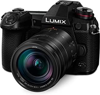 Panasonic 松下 LUMIX G9 无反光摄像头,微型四分之三,20.3 百万像素加 800 万像素,高分辨率模式,带 LUMIX G Vario 12-60 毫米 F3.5-5.6 镜头(DC-G9MK),黑色