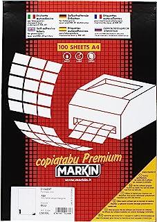 Markin 210 C503bl 自粘标签 - 自添加标签(蓝色,矩形,A4,Cellulose,-20-100 °C,永久性)