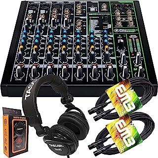 Mackie ProFX10v3 10 声道混音器,内置效果和 USB + Pro 耳机,带一对 EMB XLR 电缆和重力磁铁手机支架套装,TH02 (2) + M