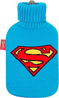 Excelsa Superman 热水袋,橡胶/织物,丙烯酸,蓝色,36 x 20 x 5厘米