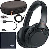Sony 索尼 WH-1000XM3 无线降噪头戴式耳机(黑色) WH1000XM3/B + AOM套装 - 国际版