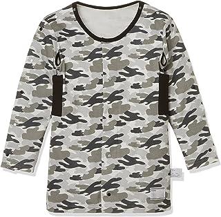 [GRO]男孩 儿童用护理内衣 附带方便的功能前开长袖 迷彩图案 男孩