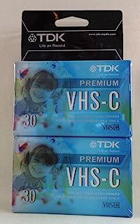TDK - VHS-C 高级 HG 终极摄像机空白媒体视频磁带 x2