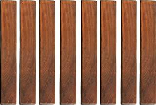 Bare Decor EZ-Floor Interlocking Flooring 瓷砖实心柚木 长 9 片 Pin Ends 棕色 BARE-WF2012