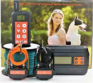 KoolKani 遥控狗训练冲击项圈和地下/地面电动电子封闭围栏绑定系统组合,适合小型、中型和大型犬(两个狗系统)