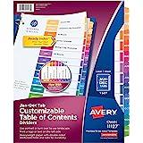 Avery Ready 索引目录分隔符 1 件装 1-包每包 1 条 多色