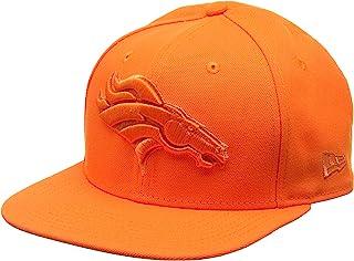 New Era 男士 9FIFTY Snapback 金属Mark Denver Broncos NFL 棒球帽,橙色