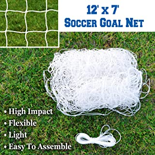 BenefitUSA 便携式足球网 24' x 8'& 3' x 7' 官方尺寸足球目标户外足球训练