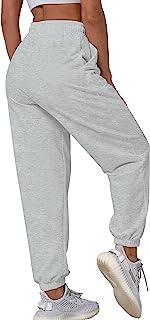 Vekline 抽绳运动裤女式 Sprot 慢跑休闲长裤口袋宽松收腰裤裤
