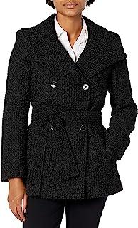 Calvin Klein 女士小码双排扣羊毛大衣