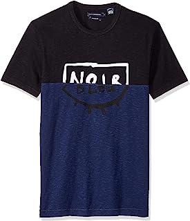 French Connection 男士短袖圆领常规版型图形 T 恤