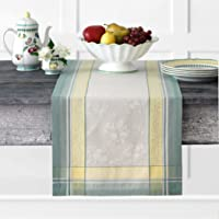 Villeroy and Boch Fleurence 提花棉织物桌巾,40.64 厘米 x 182.88 厘米,多色