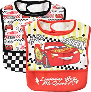 Disney 迪士尼 赛车总动员 吃饭围裙 2件装 男孩 311105213 红色 黑色 均码