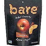 Bare 天然苹果脆片,肉桂,不含麸质 + 烘焙,大份零食包 - 3.4 盎司(约 96.4 克)(6 包装)