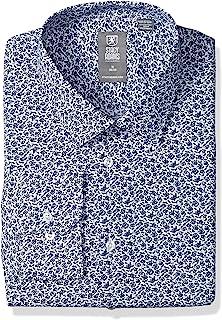 STACY ADAMS 男式藤丝印花时尚修身衬衫