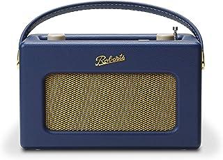 Roberts Radio REV-ISTREAM3MB 复古 DAB / DAB + FM 无线便携式数字蓝牙收音机 Alexa 语音控制智能音箱Revival iStream 3 - 午夜蓝