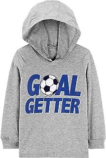 Carter's 卡特男孩夜光目标球员足球连帽运动衫 T 恤套头衫灰色长袖,12 个月