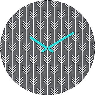Deny Designs Holli Zollinger 箭头灰色圆钟