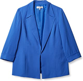 Kasper 女士缺口领绉纱前开上衣