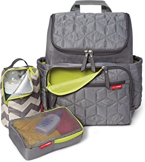 Skip Hop Diaper Bag Backpack Forma, Multi-Function Baby Travel Bag with Changing Pad