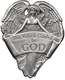 Angelstar 15727 Metal Visor Clip, 2-1/2-Inch, This Vehicle Guided by God