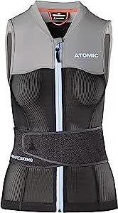 ATOMIC 女士 Live Shield 背心 W 滑雪防护背心,黑色/灰色,XS