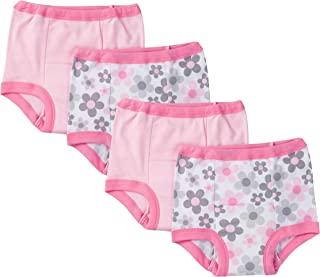 gerber toddler 女婴 4 件装 训练裤 粉色花朵 3t